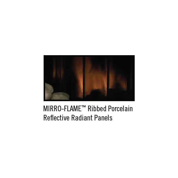PRPHR40 Porcelain Reflective Radiant Panels - Ribbed