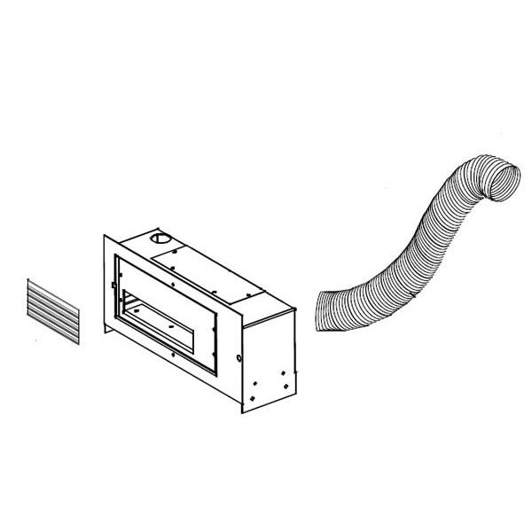 GA-566 Hot Air Distribution Kit. Includes 5 Ft. Of Flex Duct, Register & Blower.