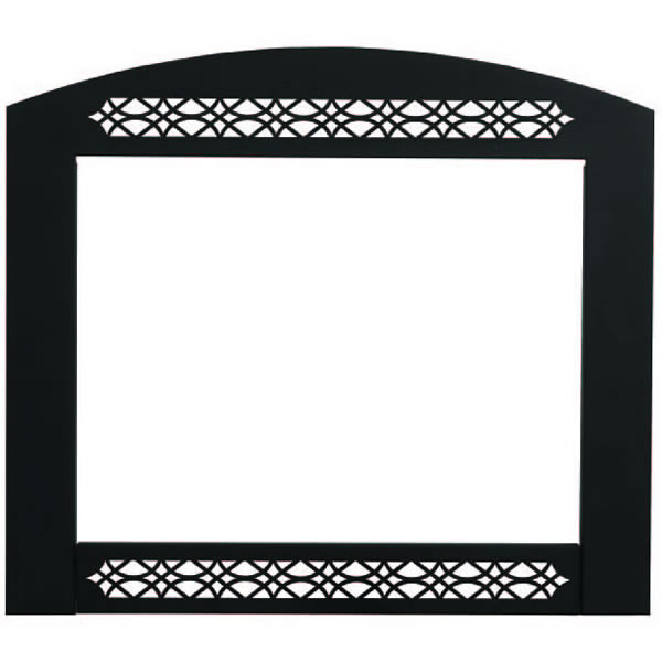 GD425-K Complete Face Plate With Lower Orn, Inset, Painted Black Finish