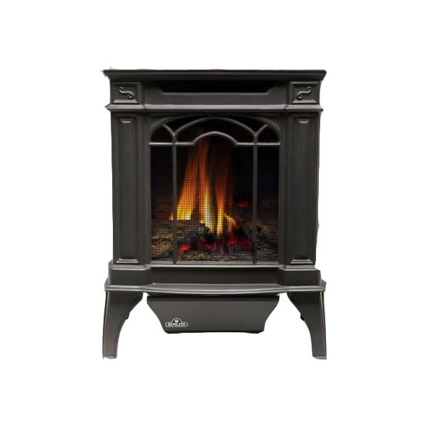 GVFS20P Arlington Cast Iron Stove-Natural Gas - Painted Black - Propane