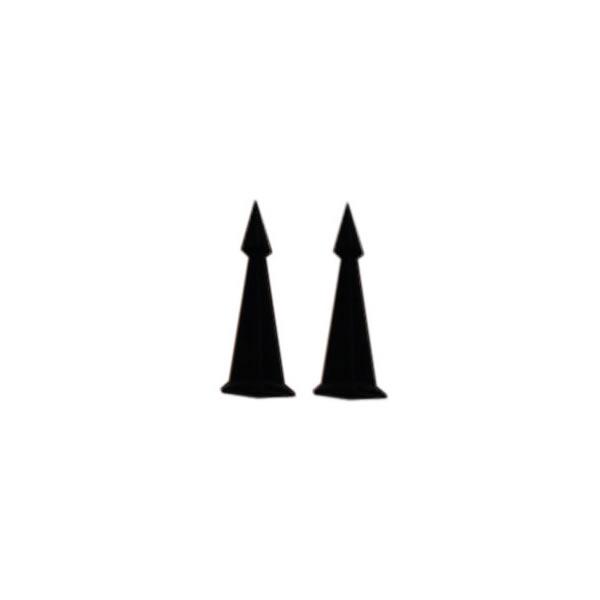 ANI-O Andirons - Cast Iron Obelisk, Black Finish