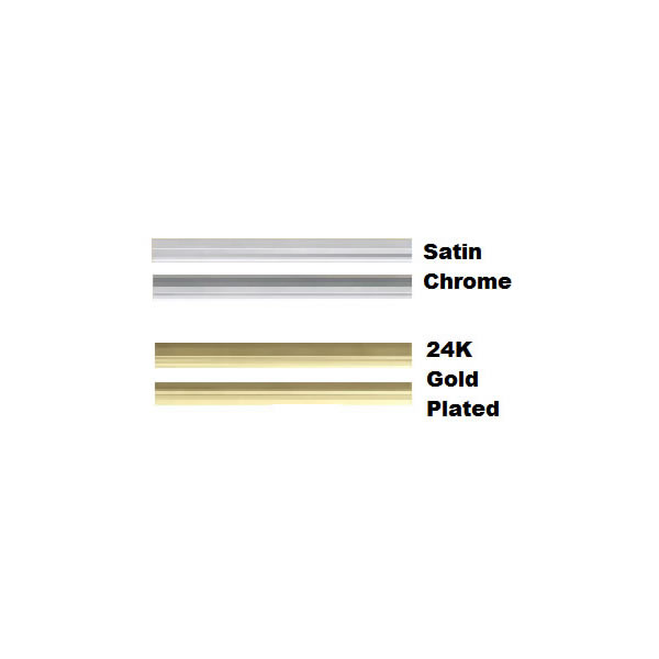 CL28SS Satin Chrome Louvers With Acrylic Trim For Pedestal