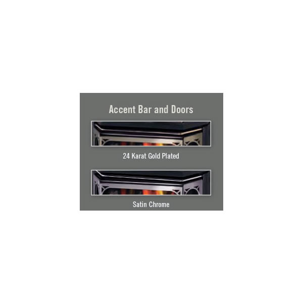 AR50SS Accent Bar/Acrylic Trim Satin Chrome Plated Finish