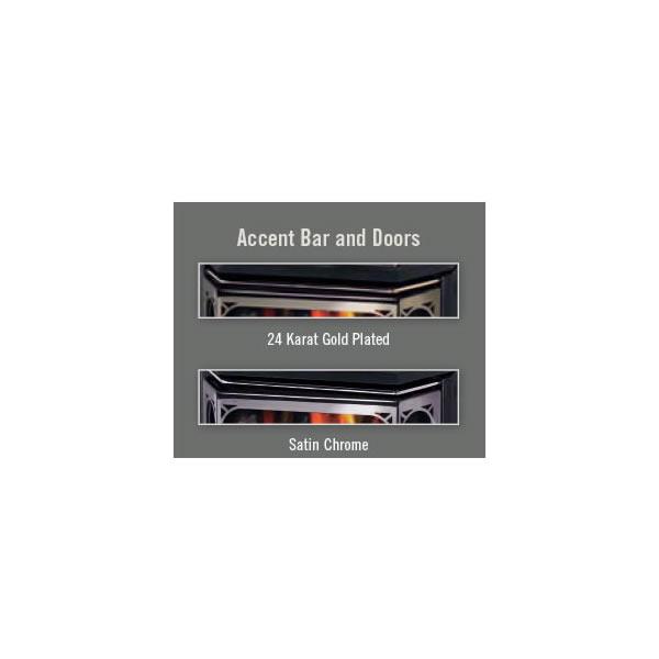 AR28SS Accent Bar/Acrylic Trim Satin Chrome Plated Finish