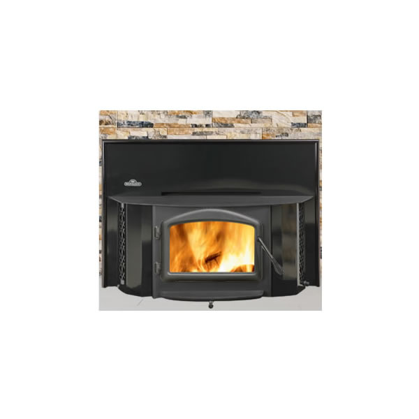 EPI-1402K 1402 Fireplace Insert - Black Porcelain