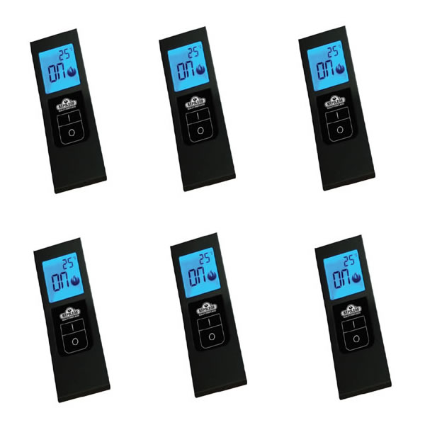 F40-6 Napoleon On/Off Hand Held Battery Operated Remote W/Digital Screen - Bulk, Pack Of 6