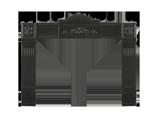 AK-1M Adaptor Kit For Cast-Iron Surround, Metallic Black