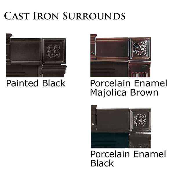 "CFSKN-A Cast Iron Surround Kit - Porcelain Enamel, Majolica Brown (Covers Opening 44""W X 36""H)"
