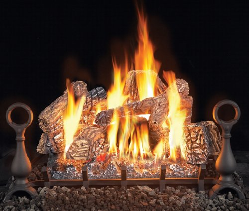 GL81L2 Top Diagonal Decorative Logs (1-Side Supplied With Log Burner Assembly)