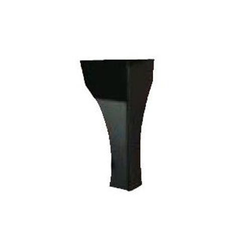 200M Traditional Steel Legs, Metallic Black