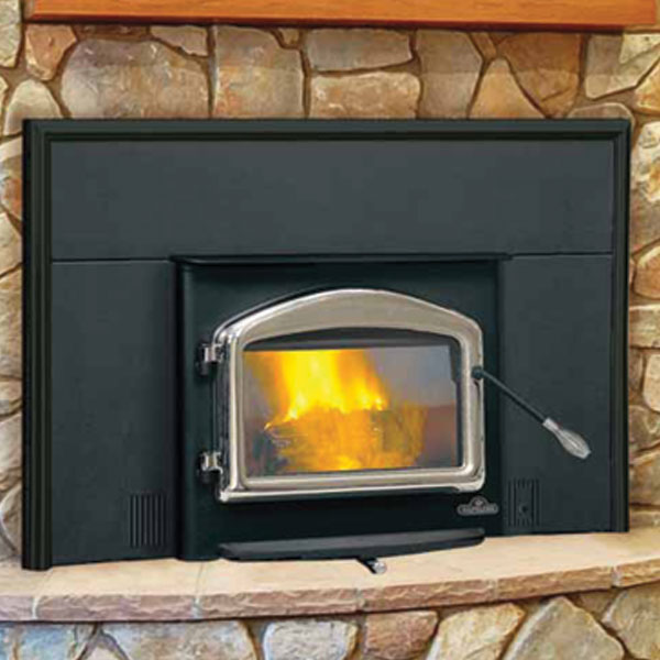 EPI-1101M Napoleon Small Wood Burning Fireplace Insert, Metallic Black