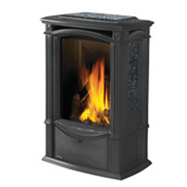 GDS26NSB Napoleon Cast-Iron Gas Stove, Metallic Black