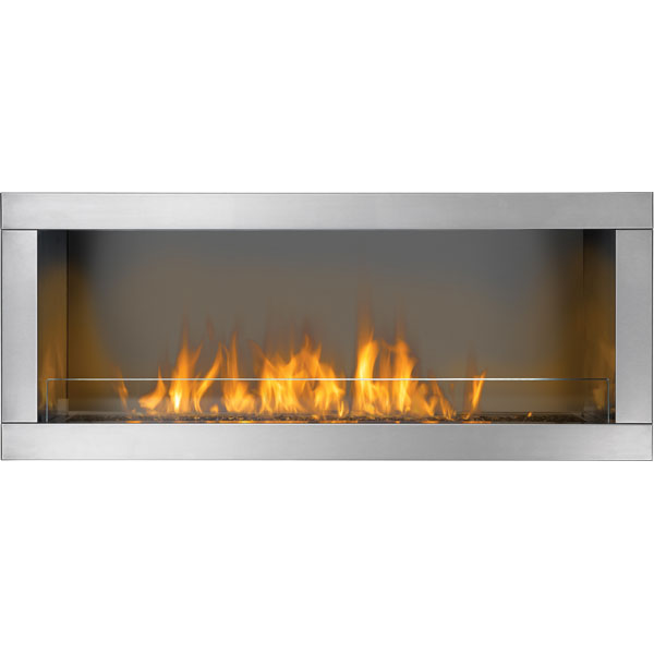 GSS48N Napoleon Outdoor Linear Gas Fireplace, Natural Gas, 1-Sided