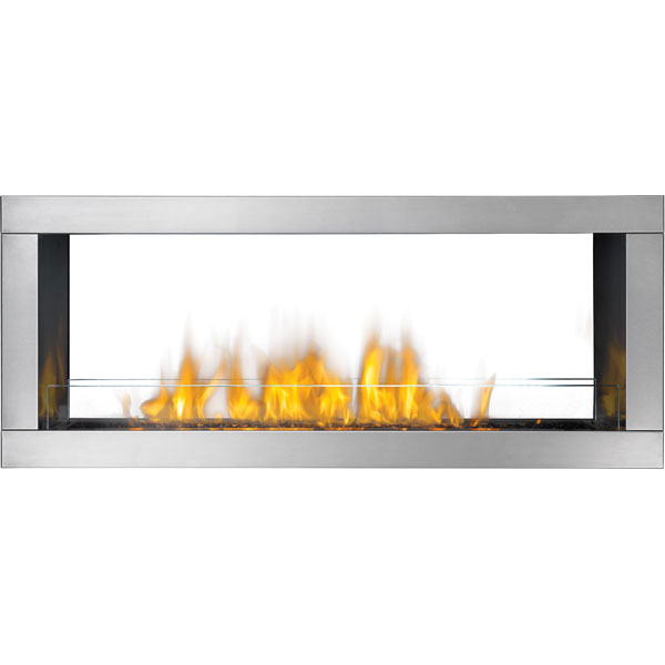 GSS48NST Napoleon Outdoor Linear Gas Fireplace, Natural Gas, See Thru, 2-Sided
