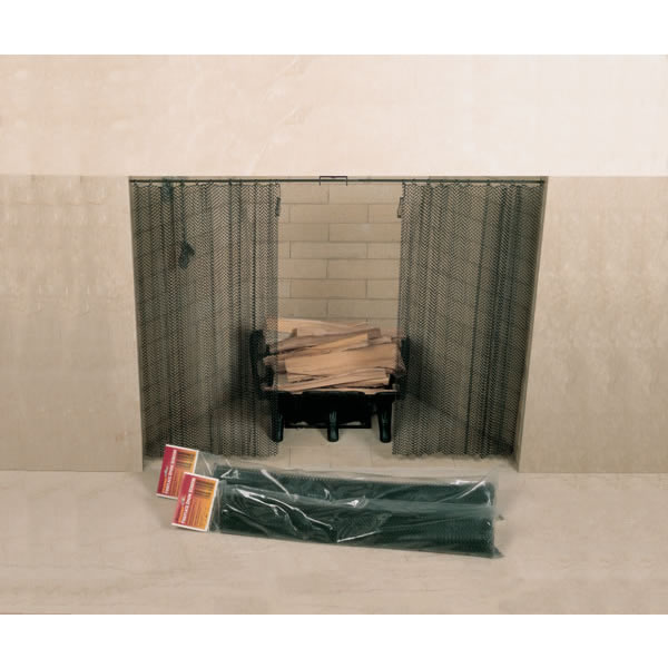 """48"""" x 24"""" Woodfield Hanging Fireplace Spark Screen, Rod Not Included"""