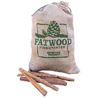 Fatwood 9908 Fire Starter, 8 lb Burlap Wrap Bag, Pine Wood