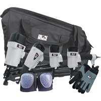 4 Piece Nailgun Kit W/Tool Bag & Accessories