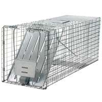 Havahart 1079 Large Animal Trap, Spring Loaded, 12 in H X 10 in W X 32 in D, Steel