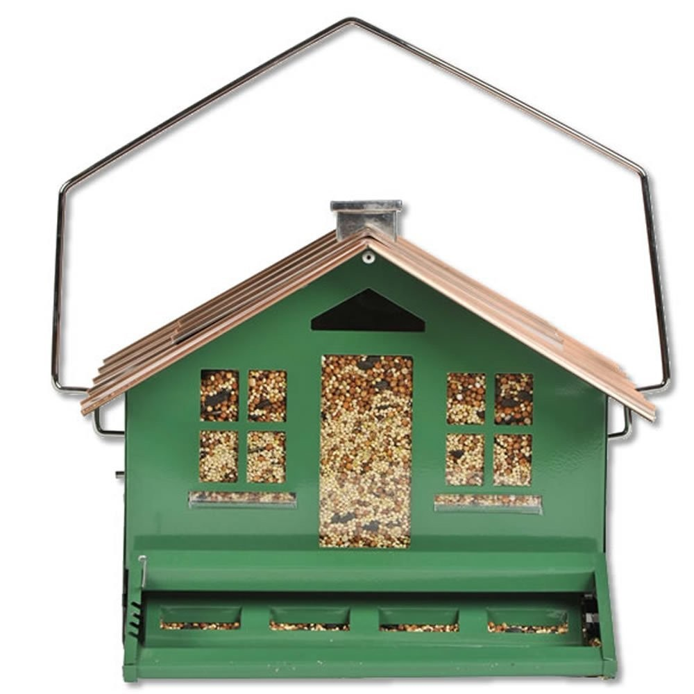 Perky Pet Squirrel-Be-Gone II Home, Squirrel Proof Wild Bird Feeder, 12 lb Capacity 12.4 in W