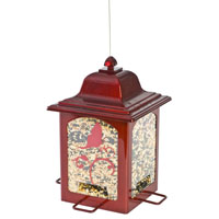 BIRDFEEDER LNTRN RED 4PORT 3LB