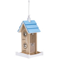 BIRDFEEDER WOOD HOUSE 2LB