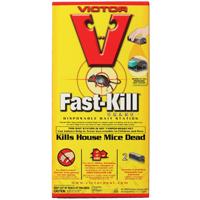 Victor Fast-Kill M912 Disposable Non-Anticoagulant Single-Feed Bait Station, 1.5 oz, Solid, Mild