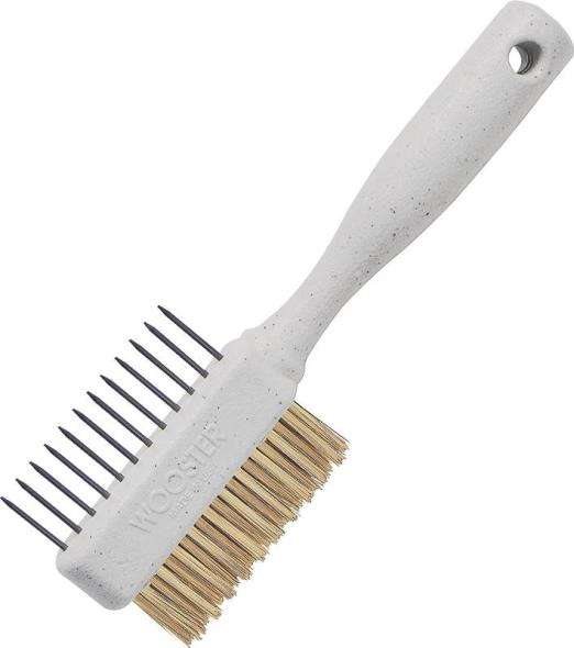 Wooster Painter's Comb Double Sided Brush Comb, Non-Rusting Brass Bristle Trim