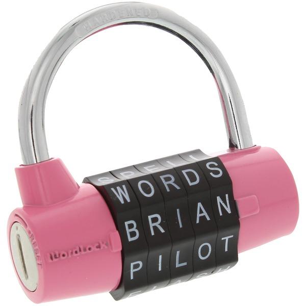 WordLock PL-001-PK 5-Dial Combination Padlock (Pink)