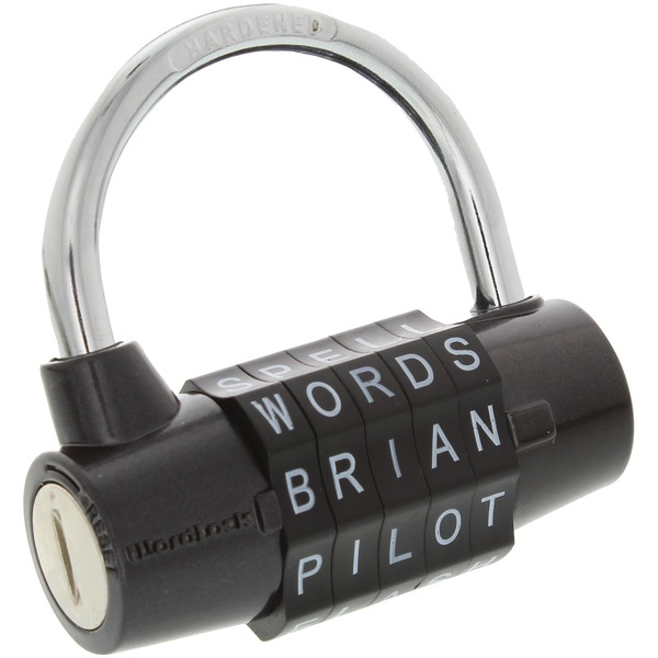 WordLock PL-004-BK 5-Dial Combination Padlock (Black)