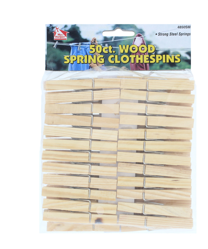 4850SM 50CT WOOD CLOTHESPIN