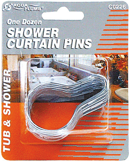 C0226 12PK SHOWER CURTAIN PINS