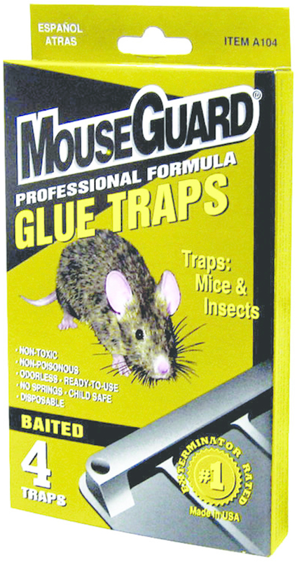 A104N 4PK MOUSE GLUE TRAP