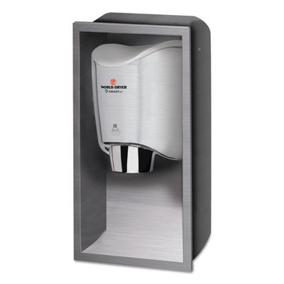SMARTdri Hand Dryer Recess Kit, 15 x 4 x 25, Stainless Steel