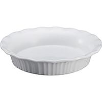 Corningware 1117314 Pie Plate, 9 in Dia, Stoneware, French White