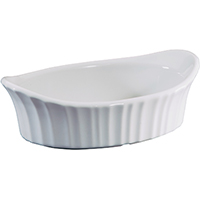 Corningware 1106004 Appetizer Dish, 18 oz Capacity, Stoneware, French White