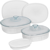 Corningware 1117221 Oval Baking Dish Set, 8 Pieces