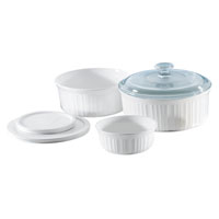 BAKING DISH SET FRNC WHT 6 PC