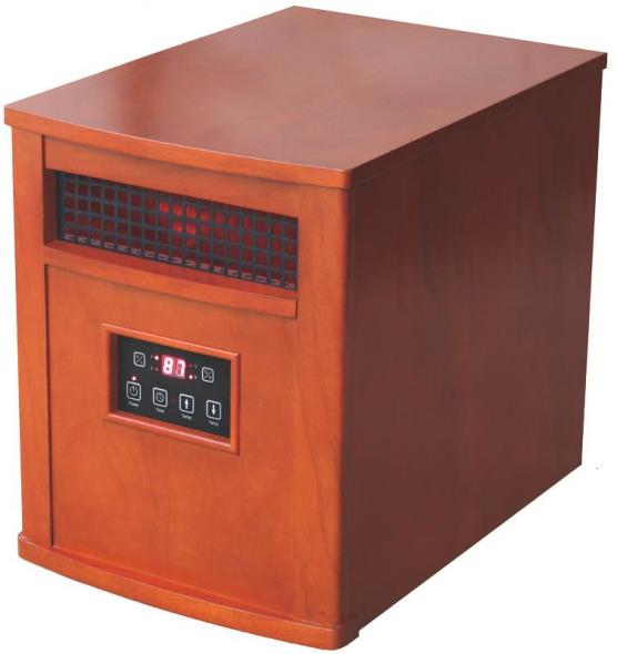 5120 BTU Infrared Quartz Comfort Furnace with Remote Control, Oak - Chestnut