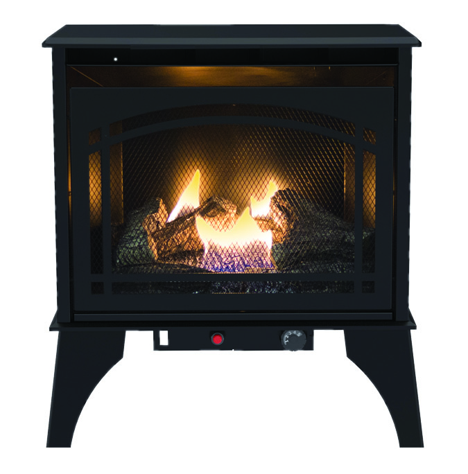 Kozy World GSD2210 Dual Fuel Vent-Free Gas Stove, 20000 BTU, Natural Gas/Liquid Propane, Steel, Black