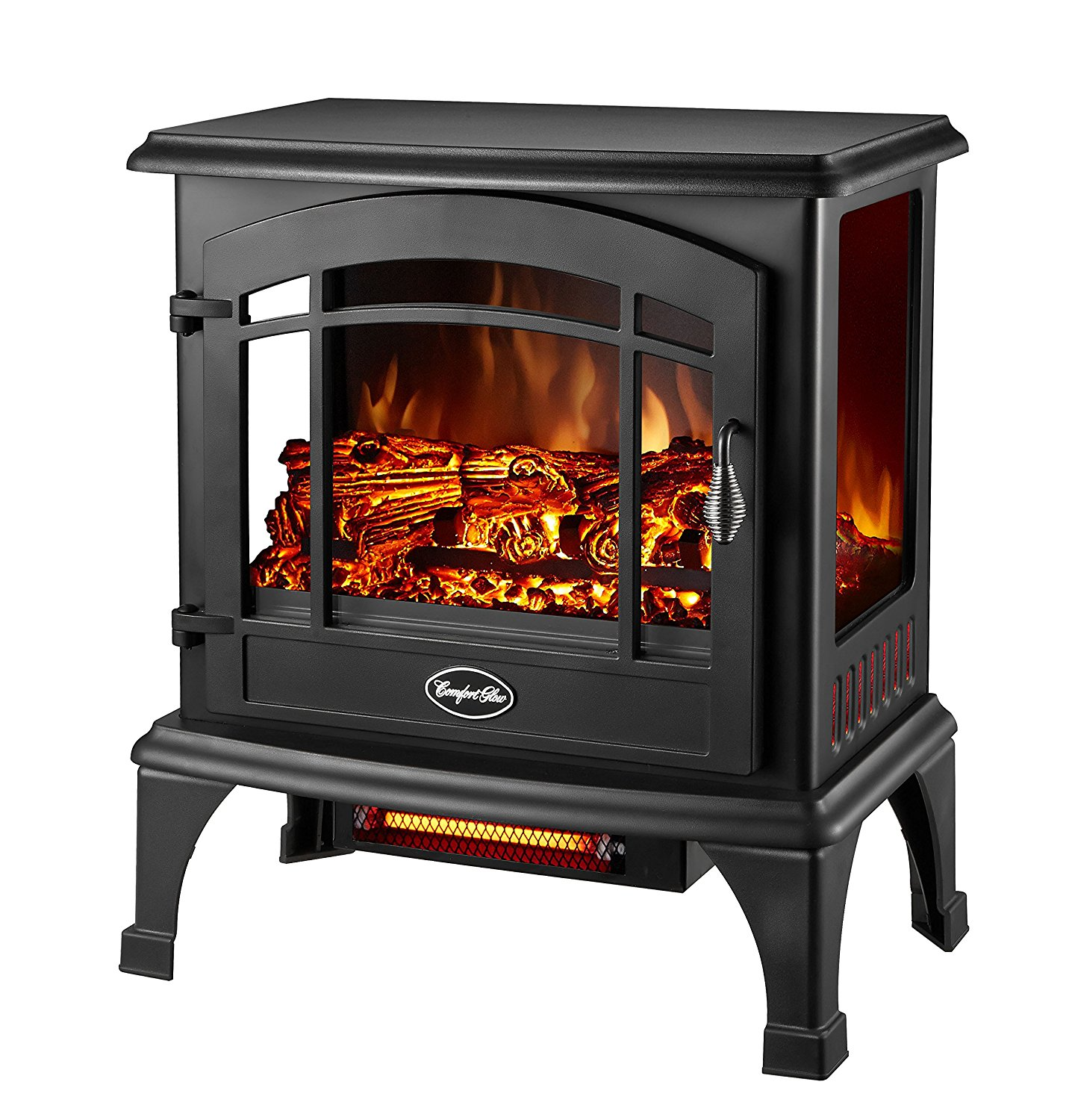 Comfort Glow EQS5140 Compact Thermostatic Electric Stove With Infrared Quartz, 4600 BTU, 700 sq-ft, 1500 W