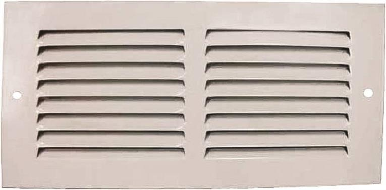 Mintcraft 1RA1004 Return Air Grille, 4 in H x 10 in W, White