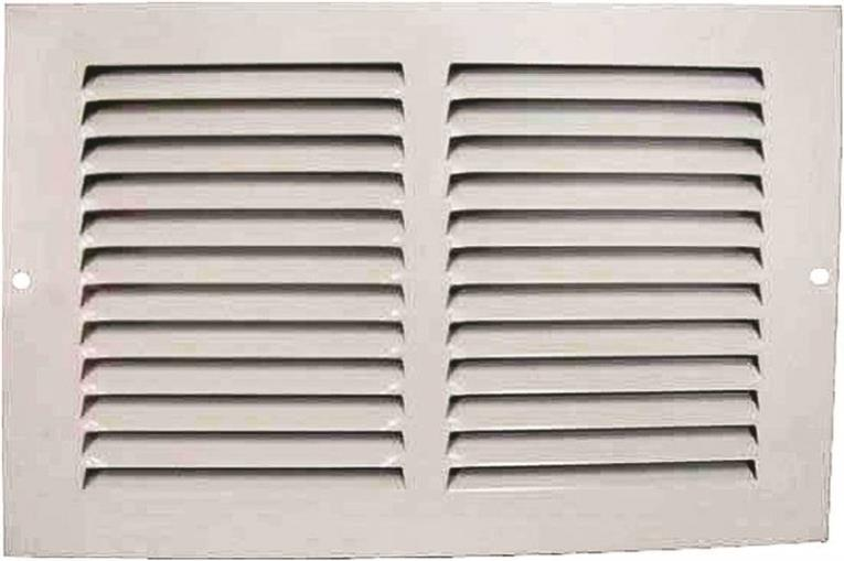 Mintcraft 1RA1006 Return Air Grille, 6 in H x 10 in W, White