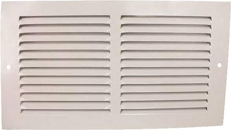 Mintcraft 1RA1206 Return Air Grille, 6 in H x 12 in W, Stamped Steel, White