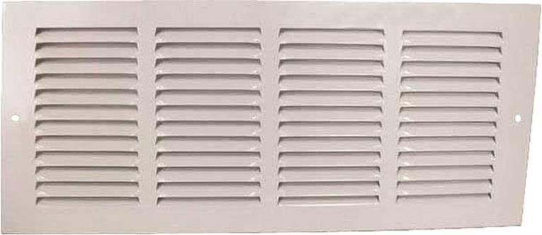 Mintcraft 1RA1406 Return Air Grille, 6 in H x 14 in W, Steel, White