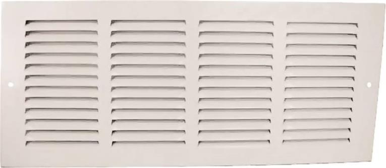 Mintcraft 1RA1818 Return Air Grille, 18 in H x 18 in W, Stamped Steel, White