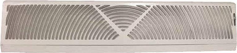 Mintcraft BB-24W Baseboard Register, 4-1/2 in H x 24 in W, Steel, White