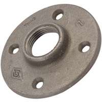 WORLDWIDE SOURCING 27-1/2B Floor Flange, 1/2 in, Malleable Iron, Black Oxide