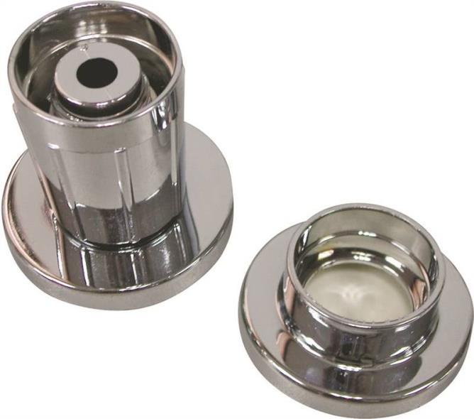 Homebasix PMB-004 Adjustable Shower Rod Flange, For Use With 1 in OD ABS Rod, Chrome Plated