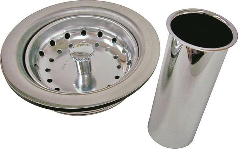 WorldWide Sourcing PMB-130 Sink Strainer Assembly, Stainless Steel