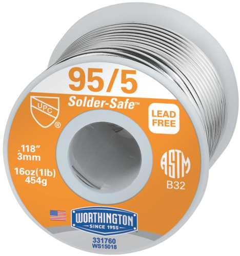WIRE SOLDER 95/5 1 LB. ROLL